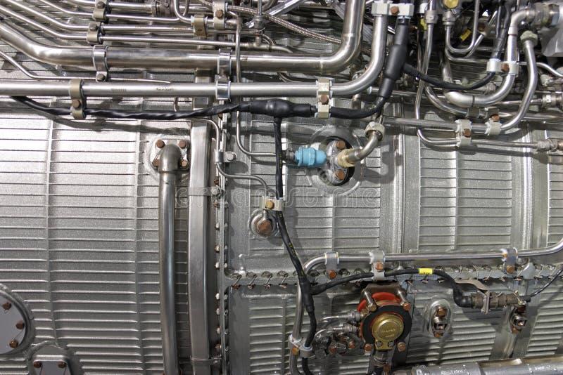 引擎喷气机涡轮 库存图片