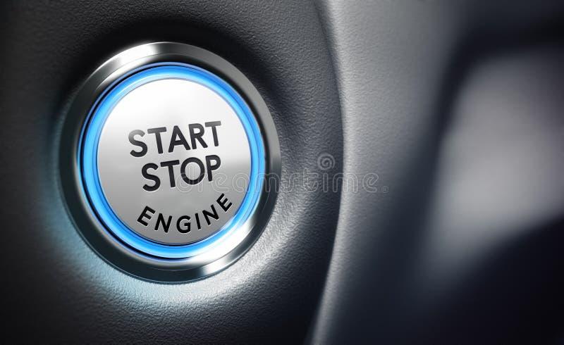 引擎开关 免版税库存照片