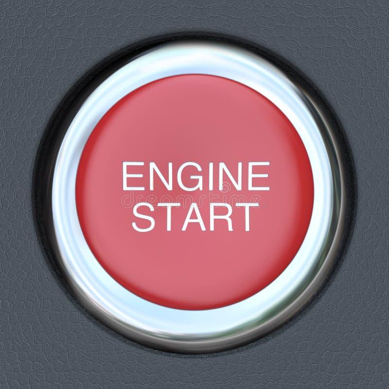 引擎开始-汽车按钮起始者 向量例证