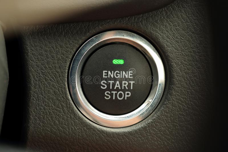 引擎开始 免版税库存照片