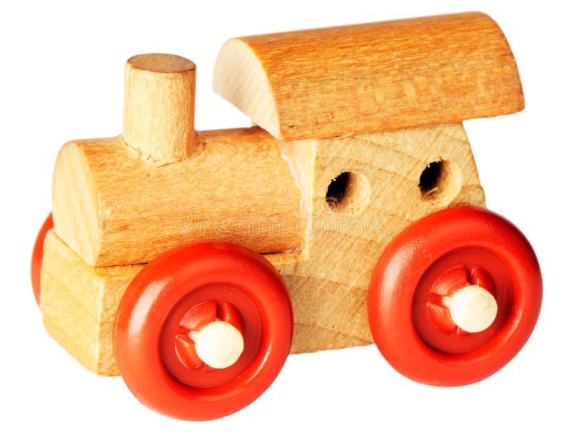 引擎木蒸汽的玩具 库存图片