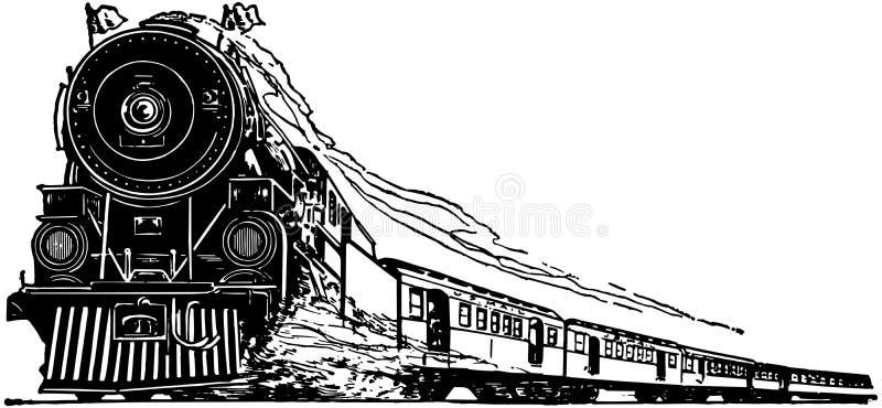 引擎机车蒸汽 库存例证