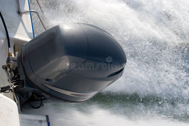 引擎汽艇 免版税图库摄影
