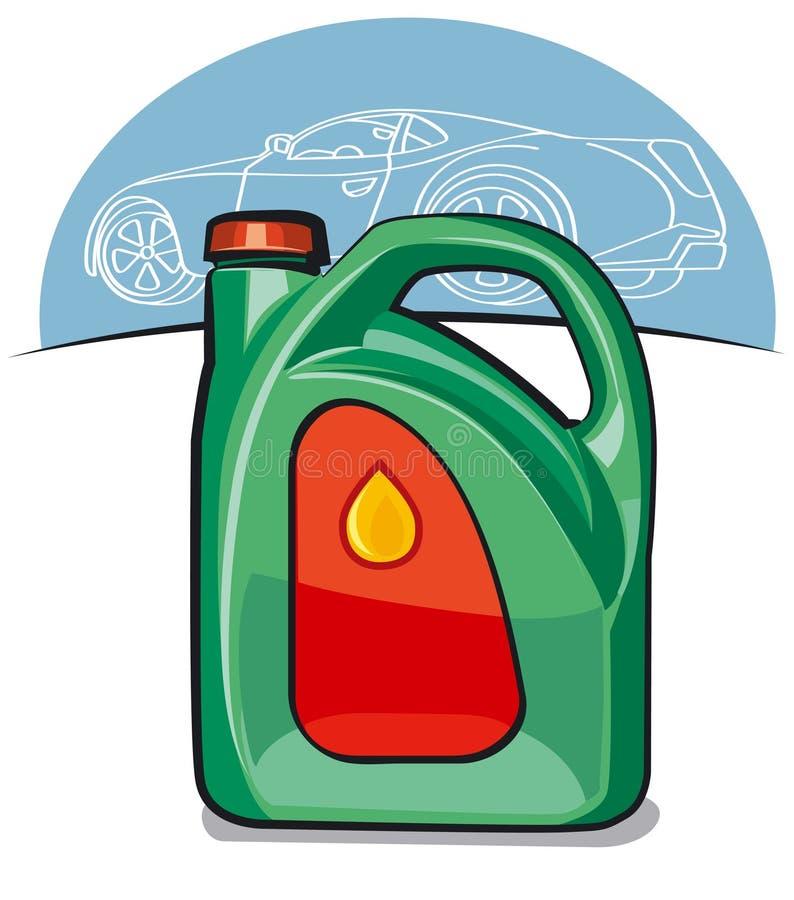 引擎汽车油 库存例证