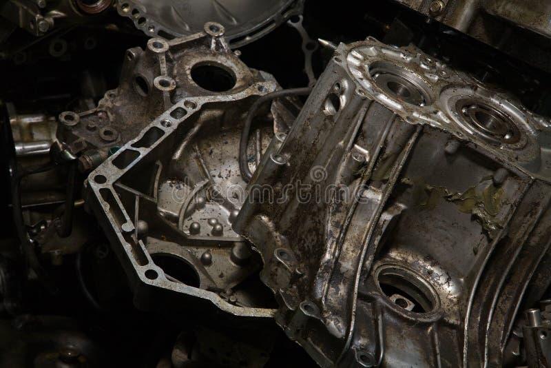 引擎油腻老 免版税库存照片