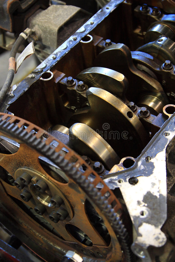 引擎维修服务 库存图片