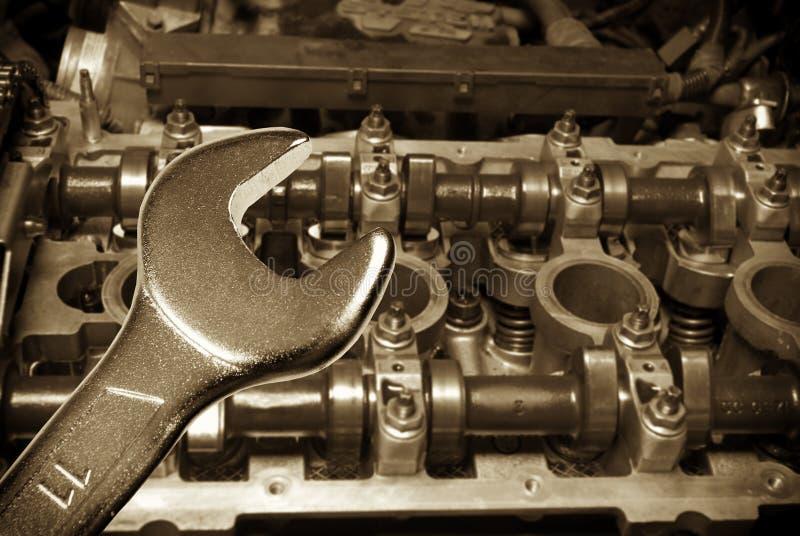 引擎维修服务 库存照片