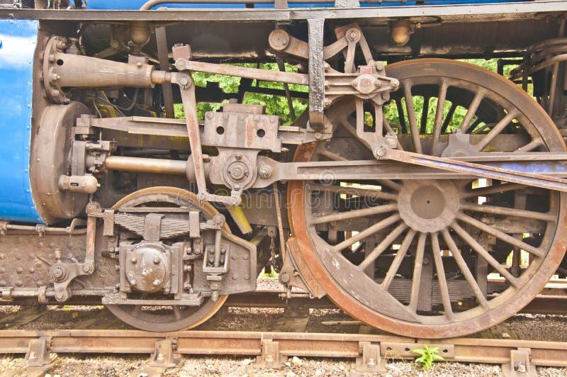 引擎老蒸汽轮子 库存照片