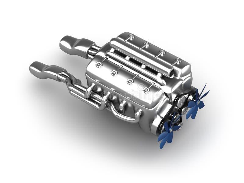 引擎高性能 皇族释放例证