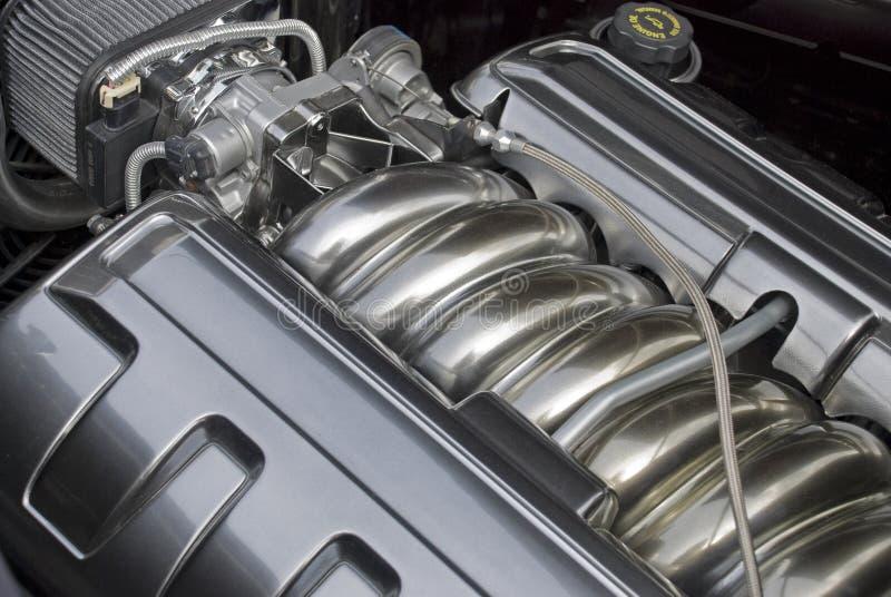引擎高进气歧管性能 免版税库存照片