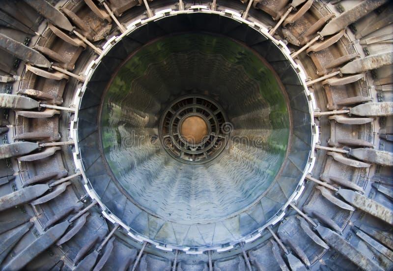 引擎j79涡轮喷气 免版税库存图片
