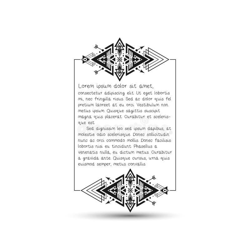 引证正文框,与地方的部族样式框架 皇族释放例证