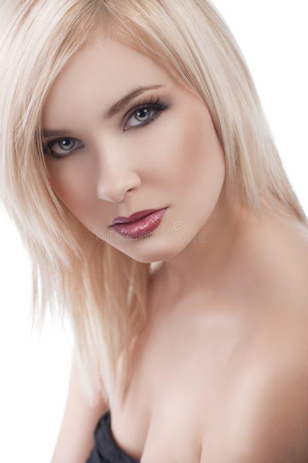引诱的白肤金发的女孩 免版税库存照片