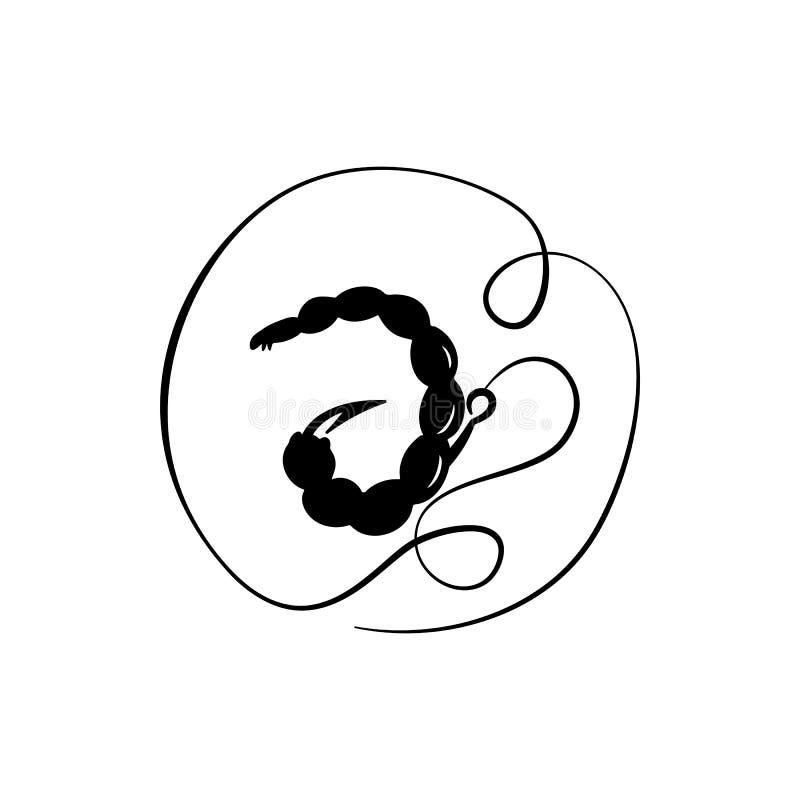 引诱红蚯蚓 向量例证