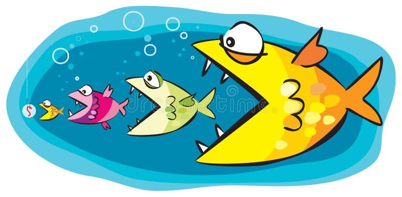 引诱鱼 向量例证