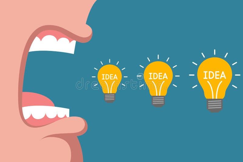 引起新的创造性的想法 皇族释放例证