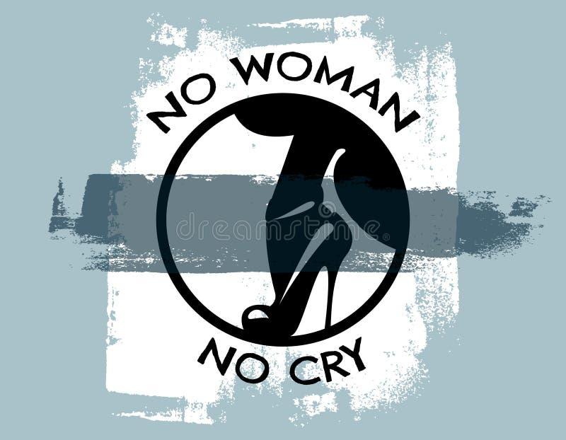 引述typographicak背景`没有妇女没有啼声` 皇族释放例证