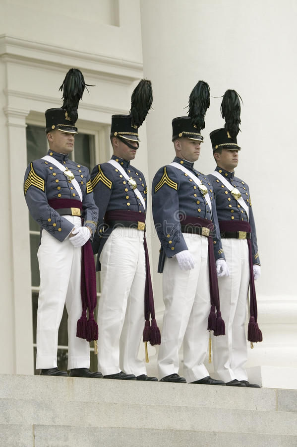 弗吉尼亚军事学院(VMI)军校学生 免版税图库摄影