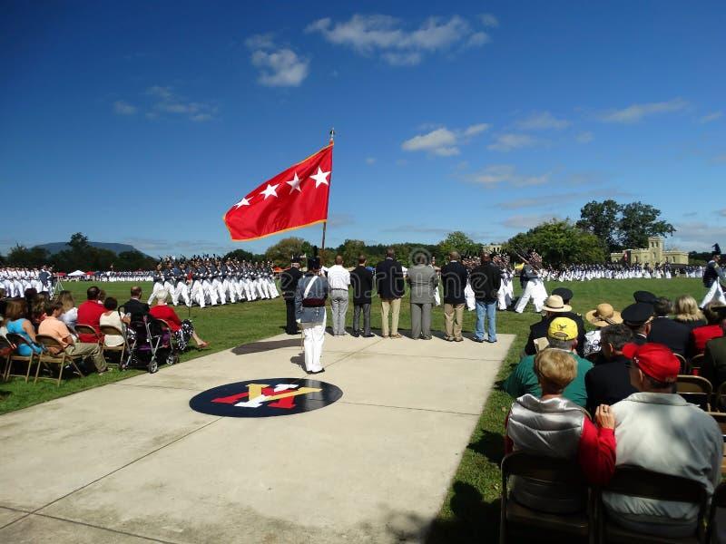 弗吉尼亚军事学院(VMI)军校学生 图库摄影