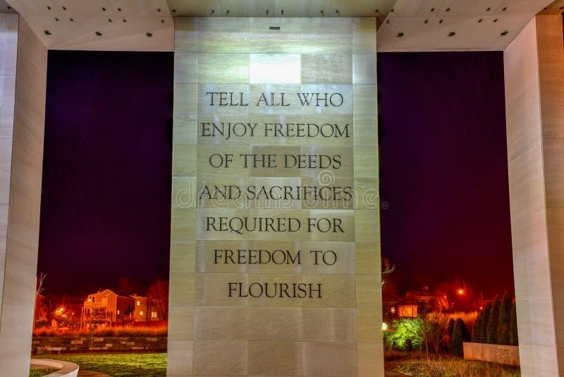 弗吉尼亚战争纪念建筑-里士满,弗吉尼亚 图库摄影