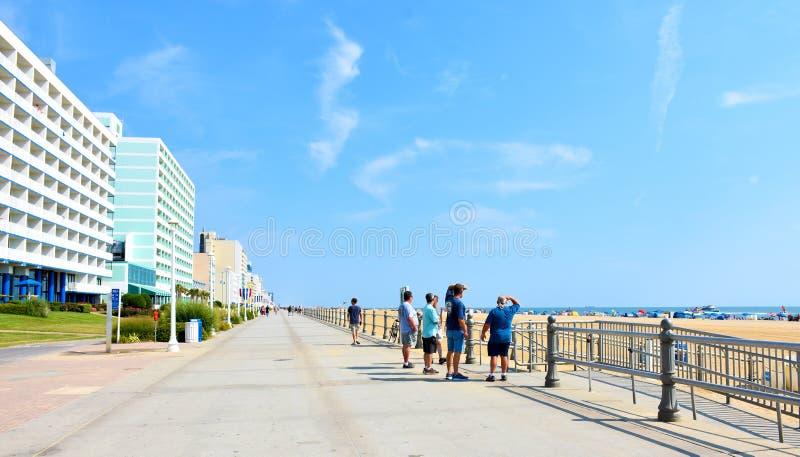 弗吉尼亚海滩木板走道,弗吉尼亚,美国 库存图片
