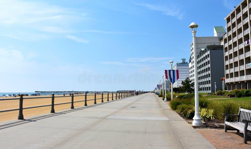 弗吉尼亚海滩木板走道,弗吉尼亚,美国 库存照片
