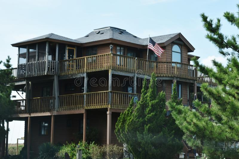 弗吉尼亚海滩东部岸沿海地带家 库存照片