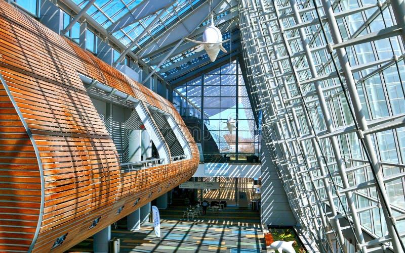 弗吉尼亚海滩大会和会议中心的里面看法 免版税库存图片
