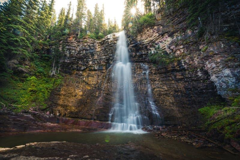 弗吉尼亚秋天,冰川国家公园,蒙大拿,美国 免版税库存照片