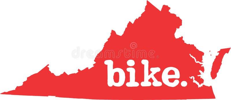 弗吉尼亚自行车状态向量标志 向量例证
