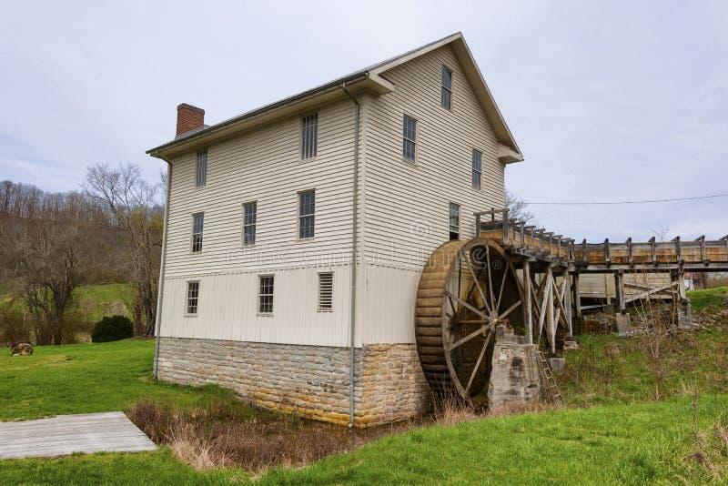 弗吉尼亚阿宾登的历史遗迹磨坊 图库摄影