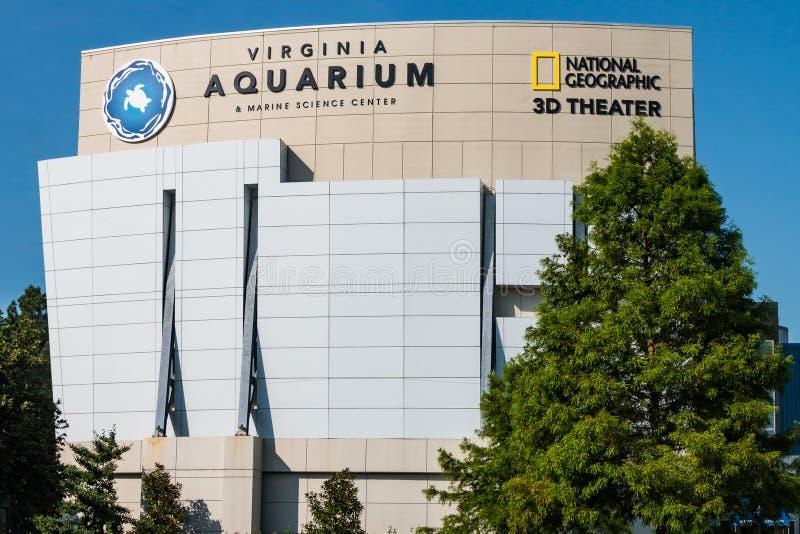弗吉尼亚水族馆在海洋科学中心在弗吉尼亚海滩,弗吉尼亚 免版税图库摄影