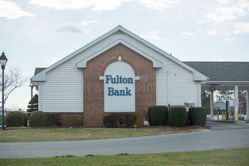 弗尔顿银行前面 库存照片