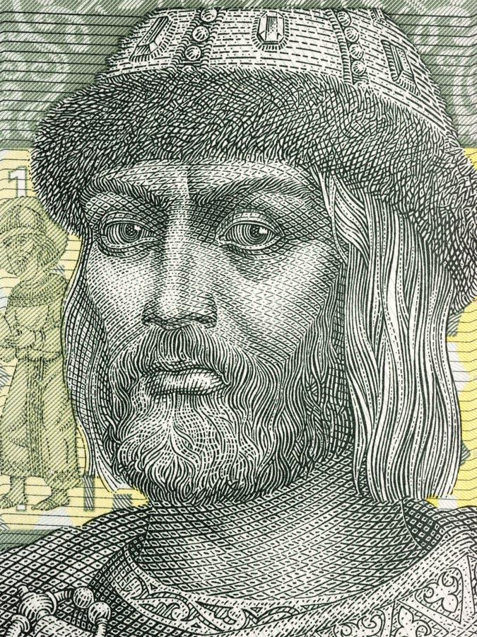 弗拉基米尔一世・斯维亚托斯拉维奇画象 图库摄影