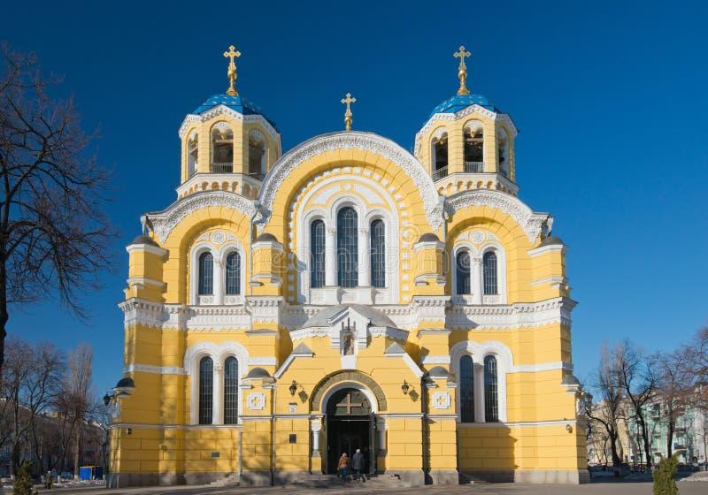 弗拉基米尔大教堂在基辅,乌克兰 库存照片