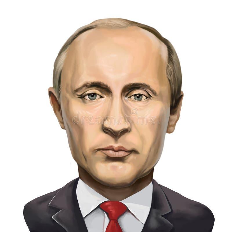 弗拉基米尔・普京,俄罗斯联邦的总统画象  库存例证