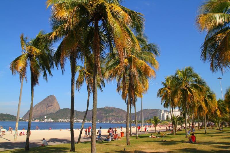弗拉门戈队海滩-里约热内卢 免版税库存图片