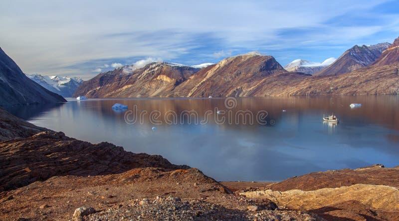 弗朗兹・约瑟夫海湾-格陵兰 免版税库存照片