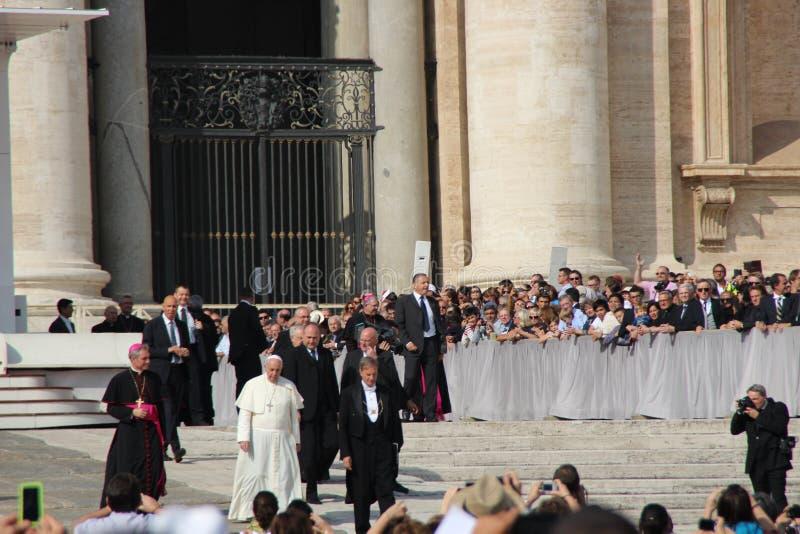 弗朗西斯教皇在罗马 库存照片