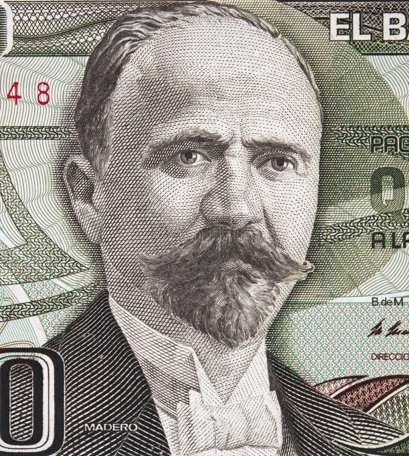 弗朗西斯科我 在墨西哥500比索1983年钞票的Madero画象, 库存照片