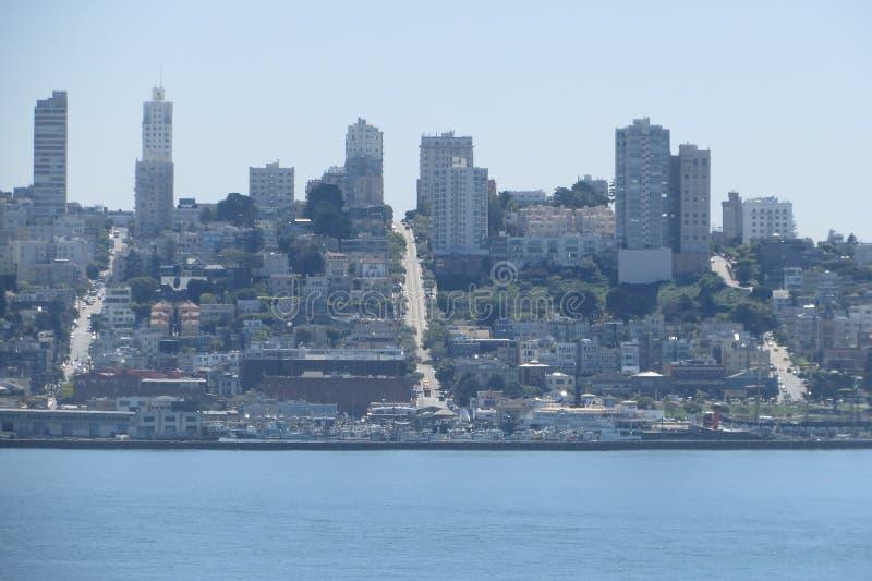 弗朗西斯科・圣 从Alcatraz的一个看法 库存图片