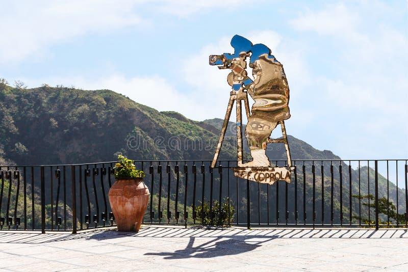 弗朗西斯・科波拉雕象在西西里岛 库存图片