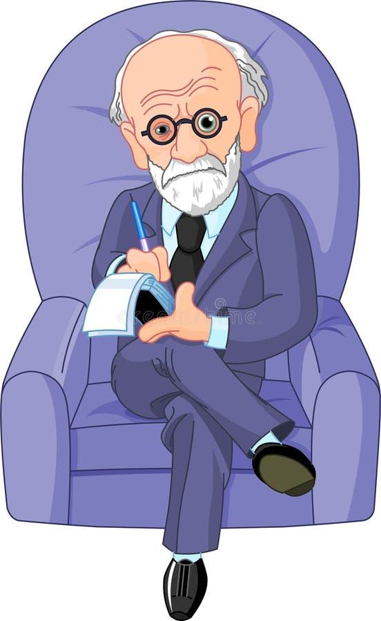 弗洛伊德・ psychotherapist博士 向量例证