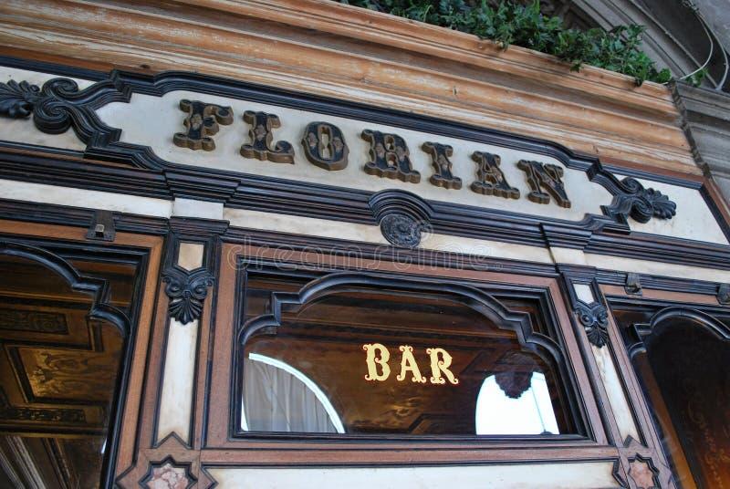 弗洛里安咖啡馆在威尼斯 库存照片
