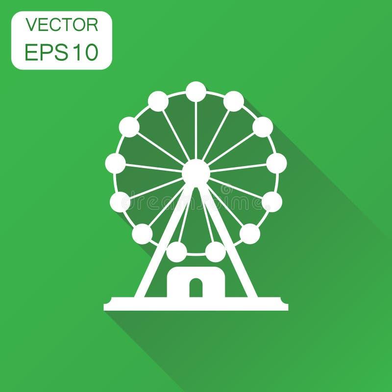 弗累斯大转轮象 企业在公园图表的概念转盘 向量例证