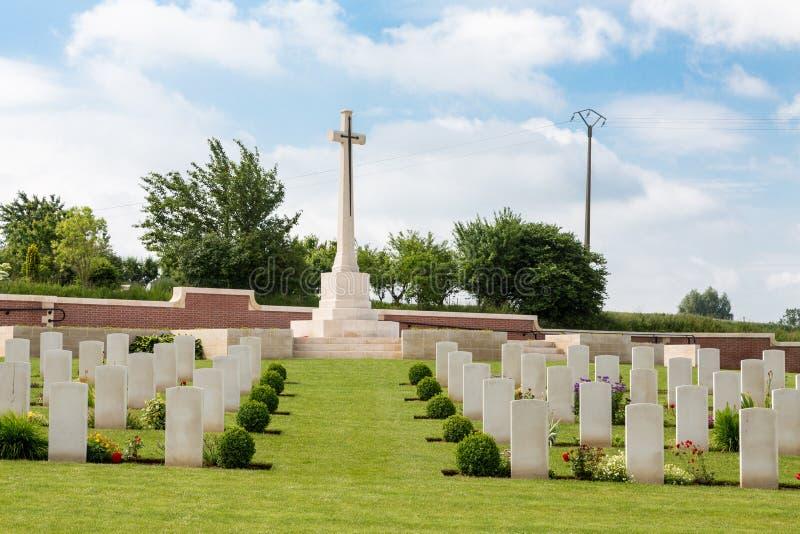 弗罗梅勒军事公墓 免版税库存照片