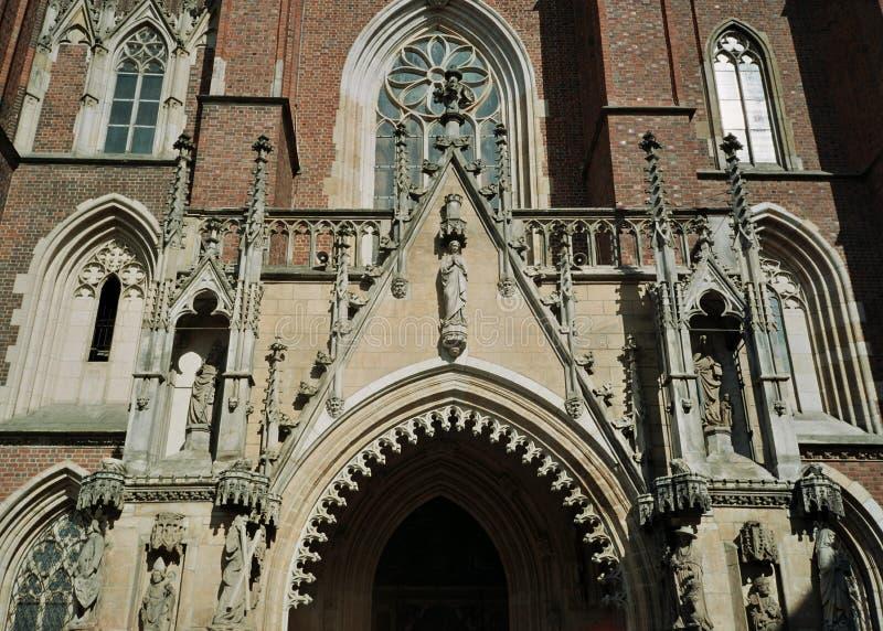 弗罗茨瓦夫波兰大教堂教会 免版税库存照片