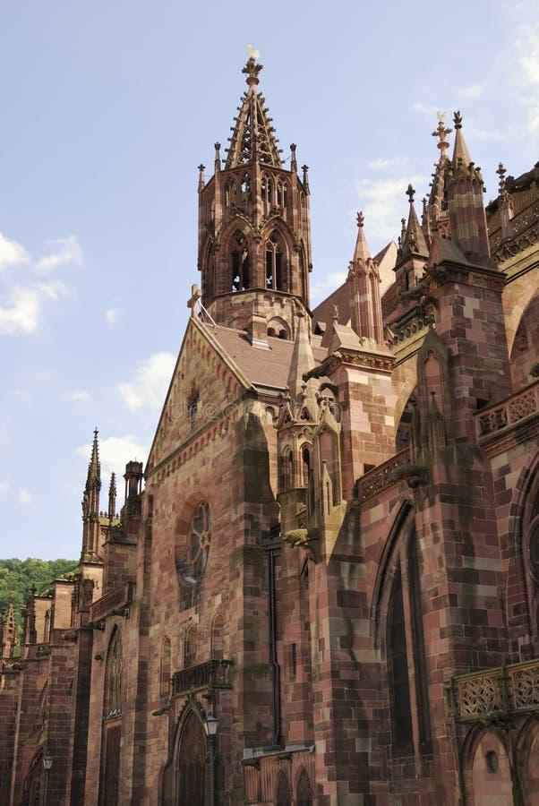 弗莱堡大教堂 免版税库存照片