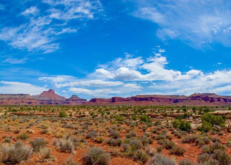 弗赖伊峡谷小山和Mesas 免版税库存照片