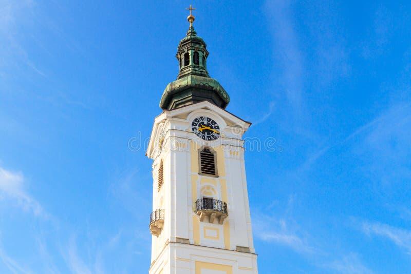 弗赖施塔特巴洛克式的教会,奥地利 库存图片